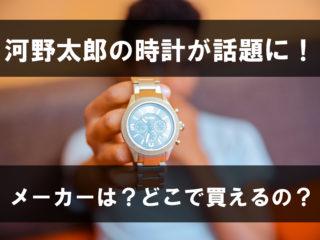 河野太郎の時計