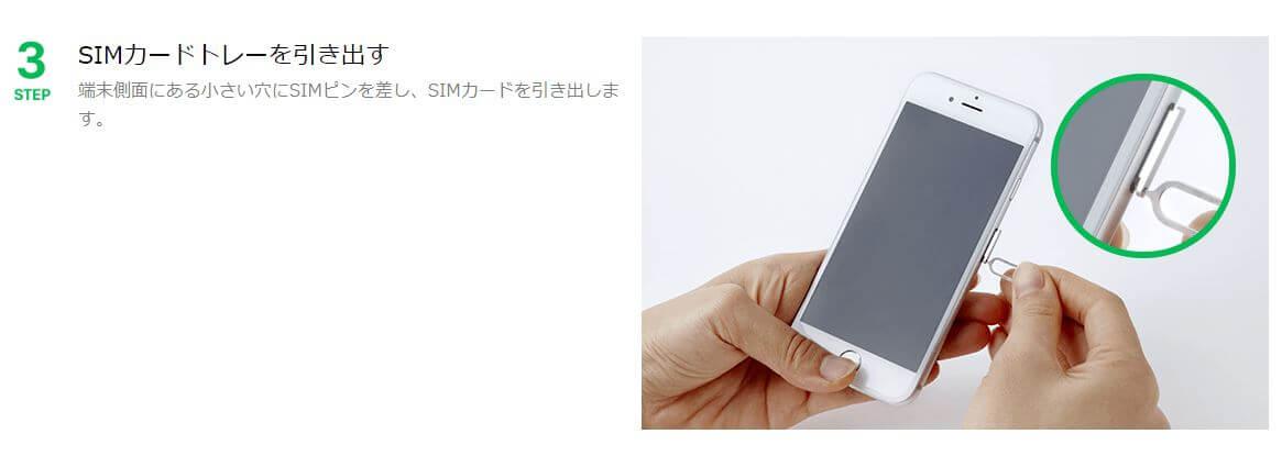SIMカードの挿入3