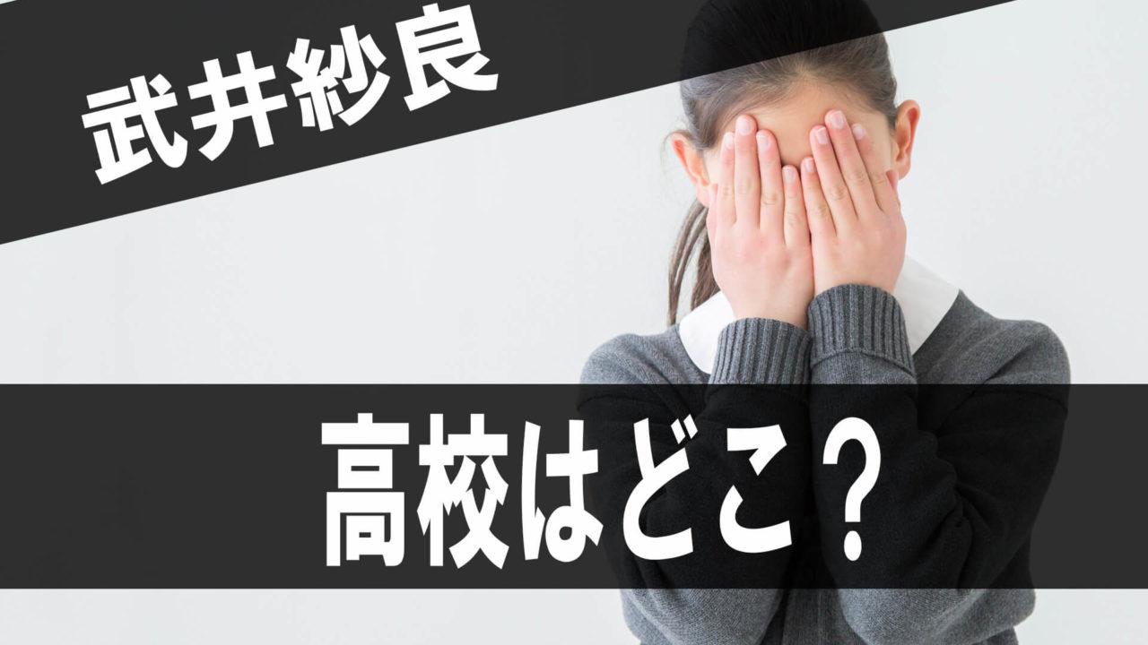 武井紗良の高校はどこ?