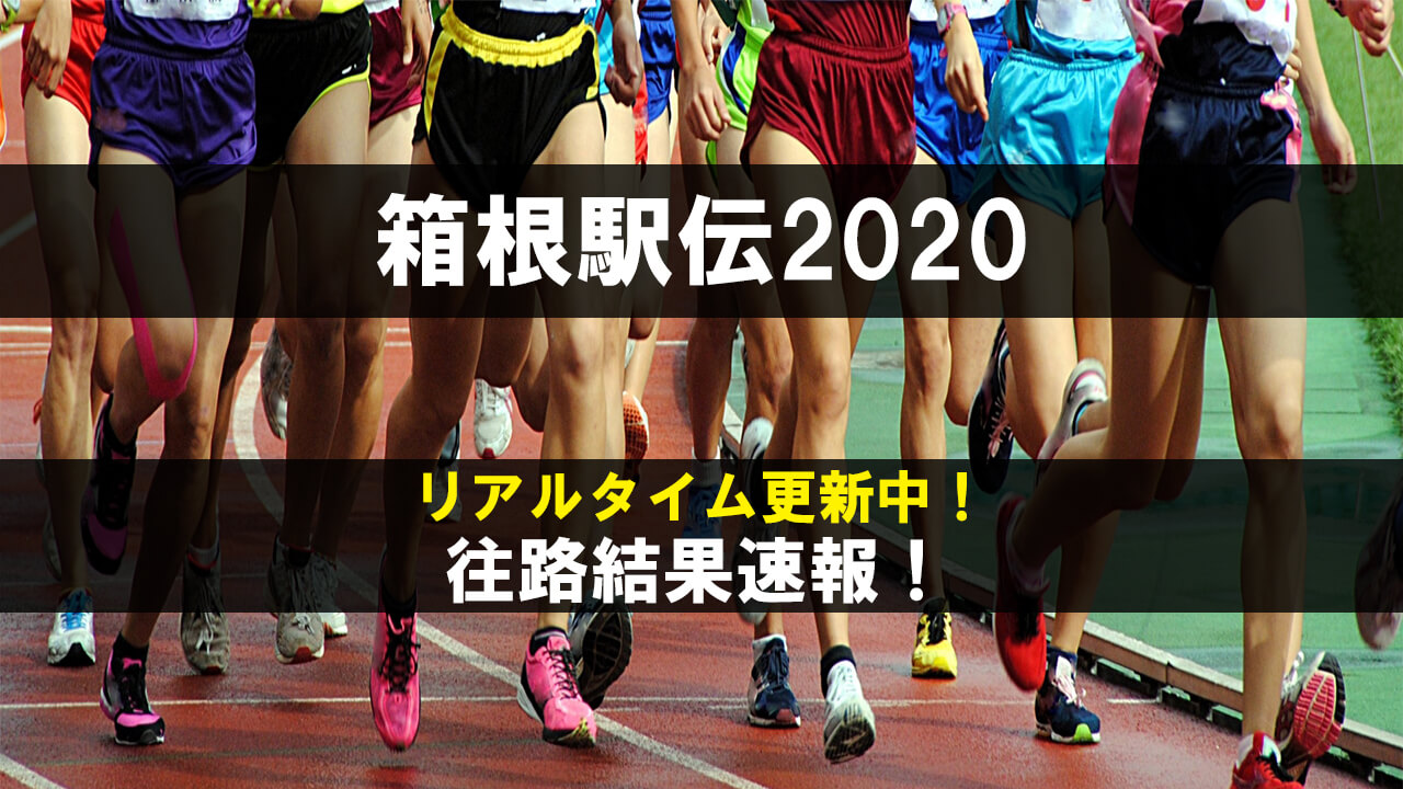 箱根駅伝2020結果速報