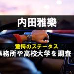 内田雅樂の事務所や高校大学 (1)